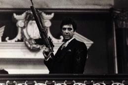 Bricolage cadre scarface al pacino avec pistolet classique crime film art soie tissu mur r tro jpg 640x640
